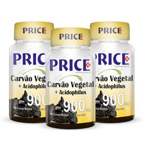 Carvão Vegetal + Acidophillus - Price - PAGUE 2 LEVE 3