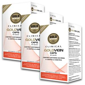 Pack 3 GoldVein Caps GoldNutrition Clinical